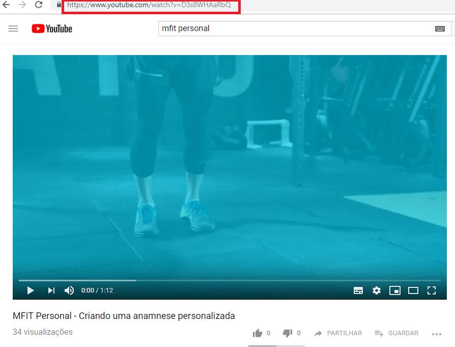 Como copiar o link do vídeo no YouTube - MFIT Personal