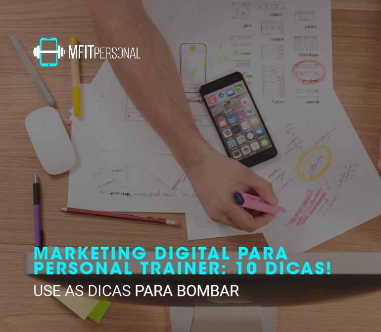 marketing digital para personal trainer na foto os gráficos com informações