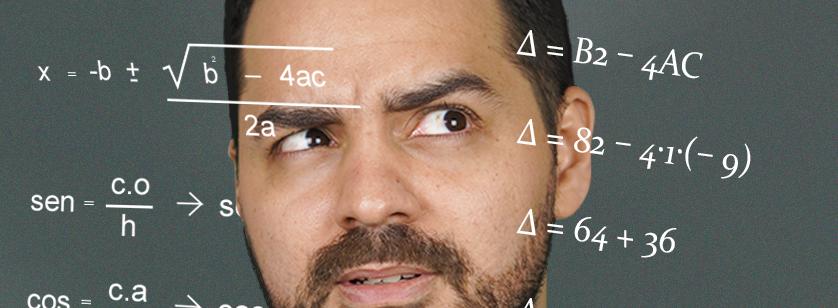 homem confuso olhando para cálculos numéricos